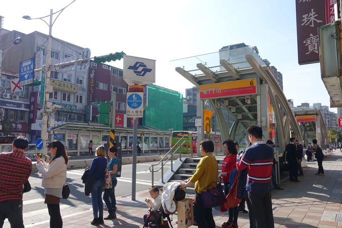 MRT東門駅を降りたらまずは北側へ行ってみよう!