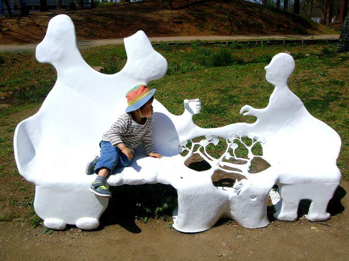 妖精と対話できるベンチ