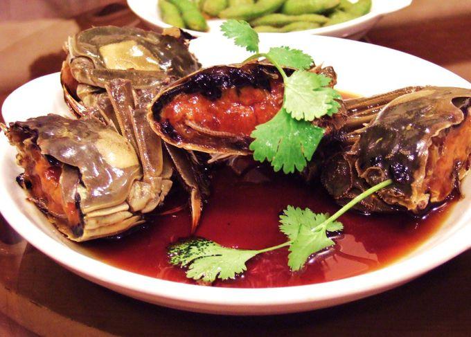 絶品!上海蟹の紹興酒漬