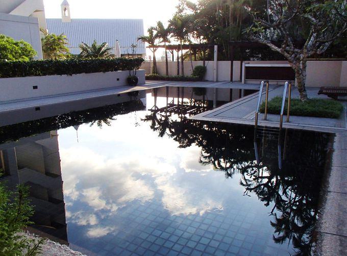 プライベート感覚が嬉しい!緑に囲まれたナハテラス滞在者専用プール