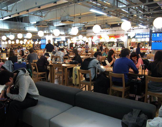 国内空港最大級!成田空港第3ターミナル「フードコート」は全7店舗!