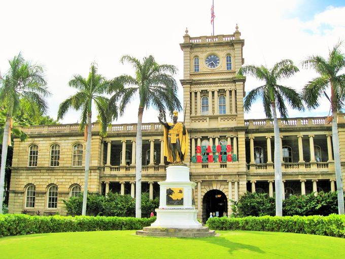 ハワイといえばカメハメハ大王