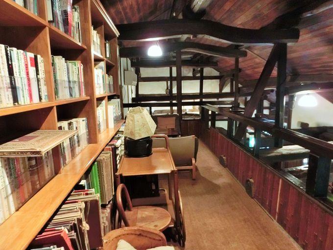 2階は読書もできる空間