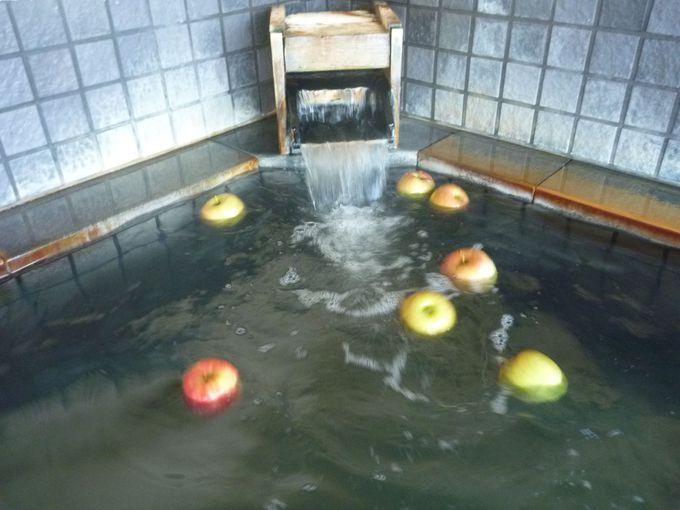 肌にとってもよいりんごづくしの「りんご温泉」