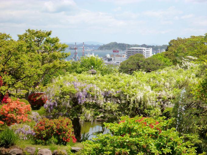 庭園から望む『千賀の浦』は平安の人の憧憬の地