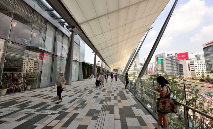 モダンにリニューアルされた東京駅八重洲側