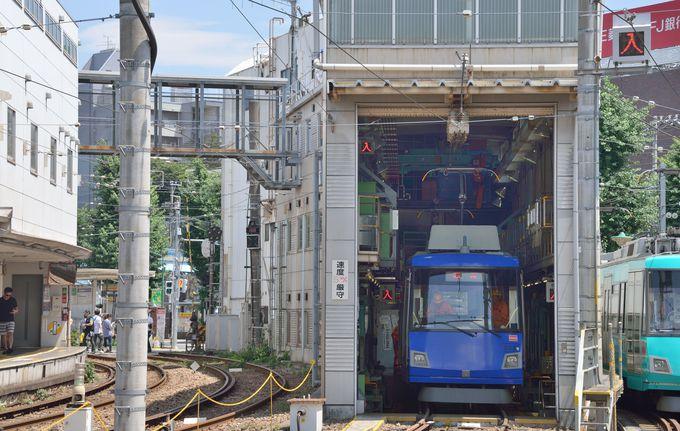 小さいながらも車両基地もある。電車好きの方に上町の車両基地の撮影ポイントをご紹介