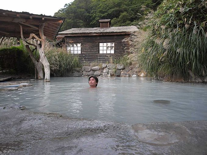 鶴の湯名物?の混浴露天風呂