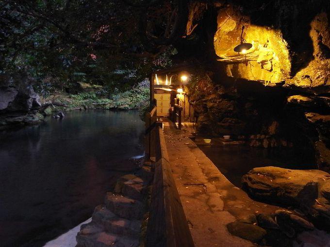ここが名物の洞窟露天風呂!