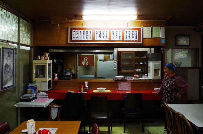 シメは併設のおばちゃん手作りの食堂で