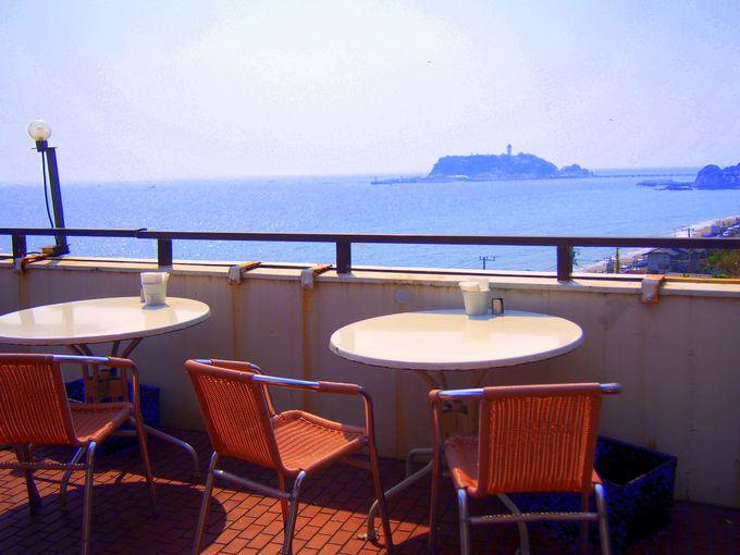江の島ビューの特別席。サンセットタイムもお勧め