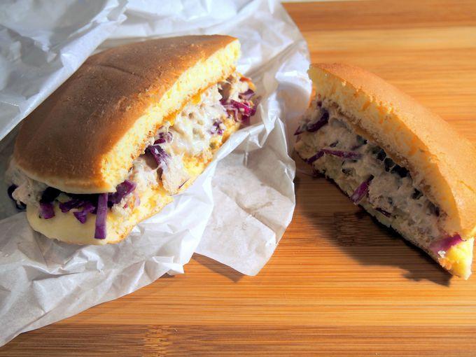2014年1月に新発売。東京駅限定!!「パンケーキのサンドイッチ」