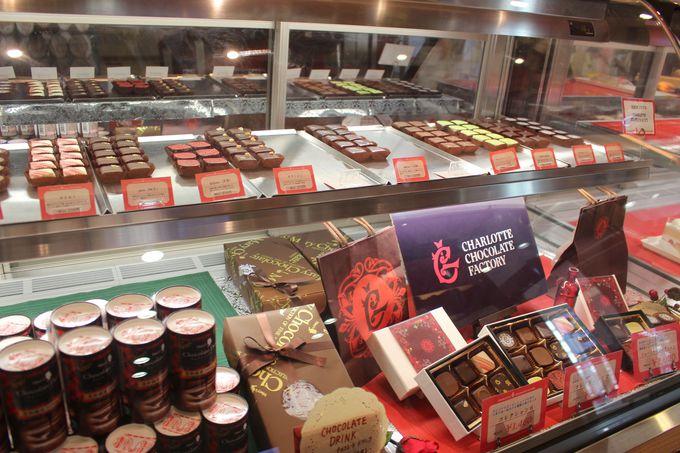 かわいいチョコがいっぱい!チョコレート販売コーナー。バレンタイン限定チョコも!