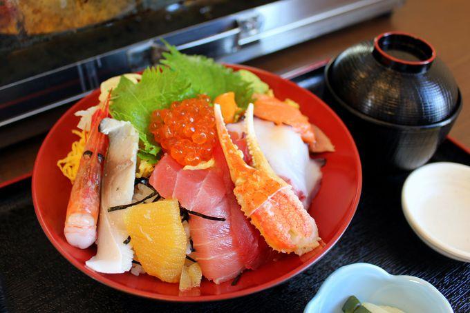 美味しい海鮮丼も!ごはんものも豊富