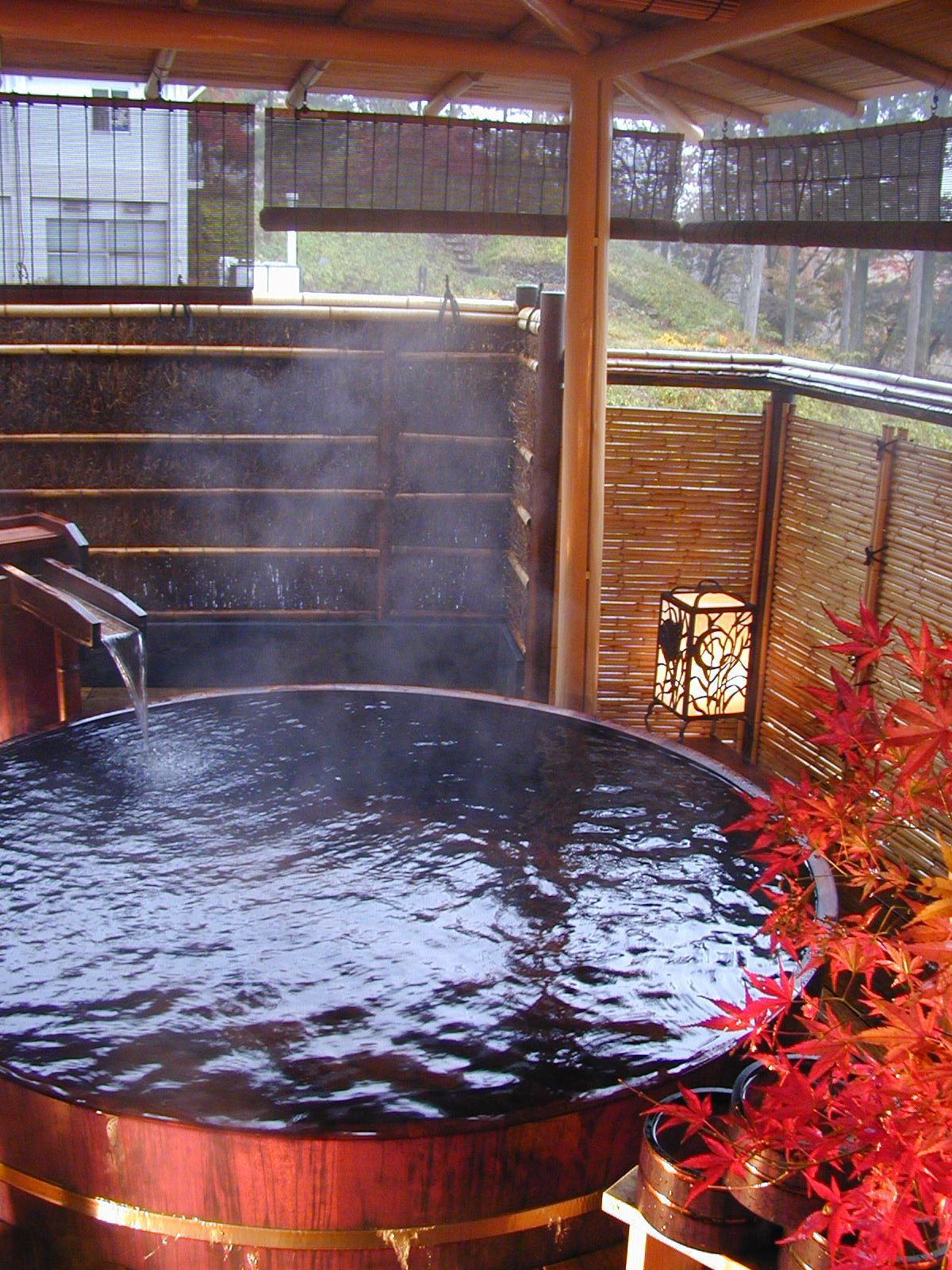 谷川連峰を見渡せる大浴場「榛栗(はしばみ)の湯」