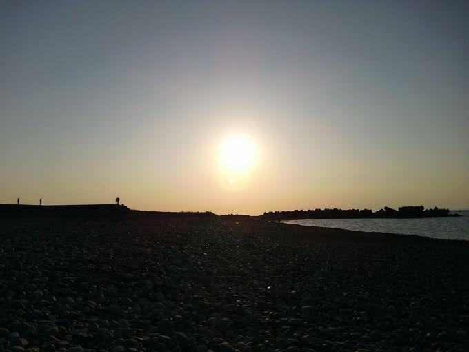 沈んでいく夕陽も!