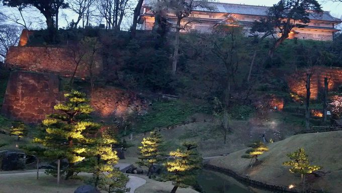 「玉泉院丸庭園」も歴史を感じるライトアップ