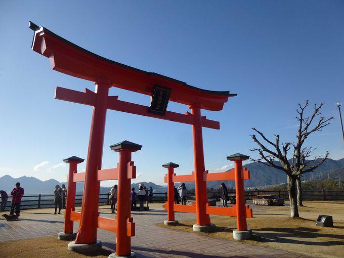 宮島SAのシンボル、大鳥居