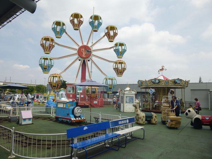 遊べる道の駅!子供に人気のミニ遊園地は、ドライブ中の休憩にぴったり。