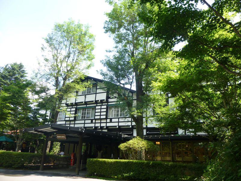 軽井沢の憧れホテル、万平ホテルカフェテラスでティータイム
