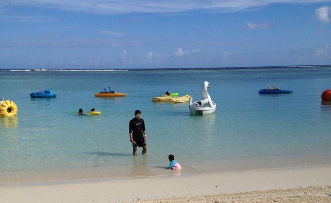 ビーチとプールで思い切り遊べる