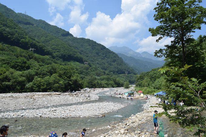 【10:00】散策・水上アクティビティ・川遊び。清流を楽しもう!