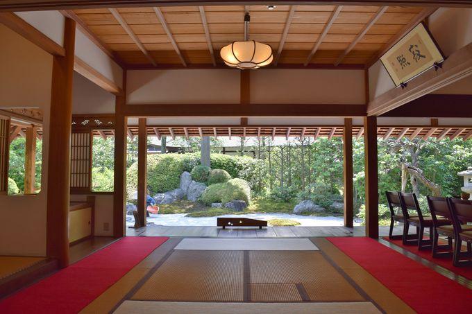 枯山水の庭園を望む「喜泉庵」