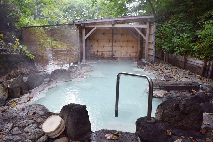 グリーンシーズンには絶対に入りたい、野趣あふれる野天風呂