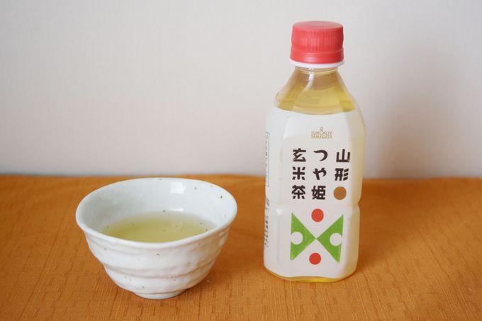 山形のお米といえば「つや姫」。つや姫の玄米茶もあります