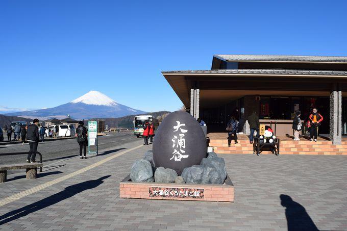 大涌谷くろたまご館などの周辺施設に、富士山のビュースポット