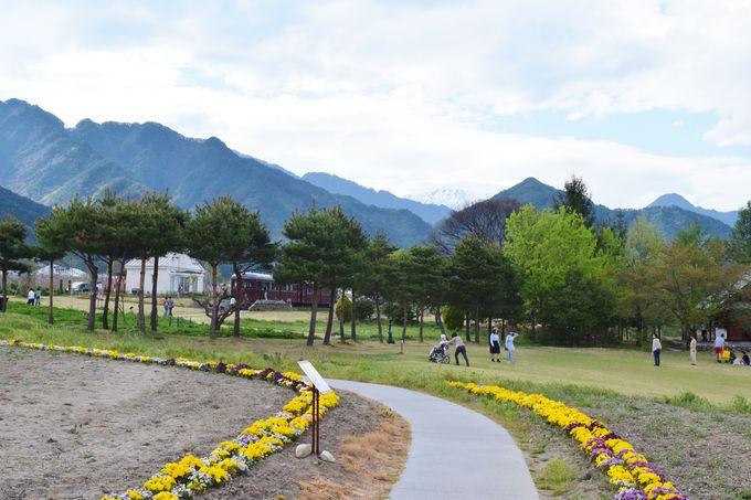 安曇野ちひろ公園の一画にある「トットちゃん広場」