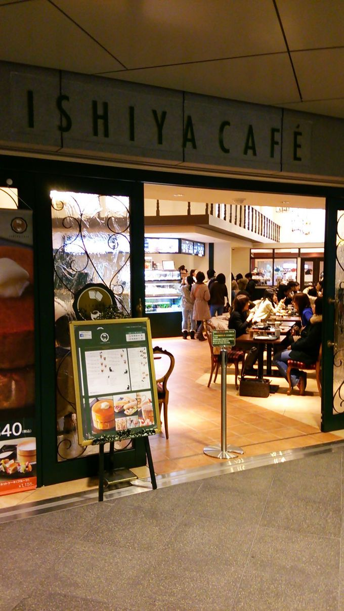 地下歩行空間はカフェ巡りがおススメ!その中でも一番人気はここ「ISHIYA CAFE」