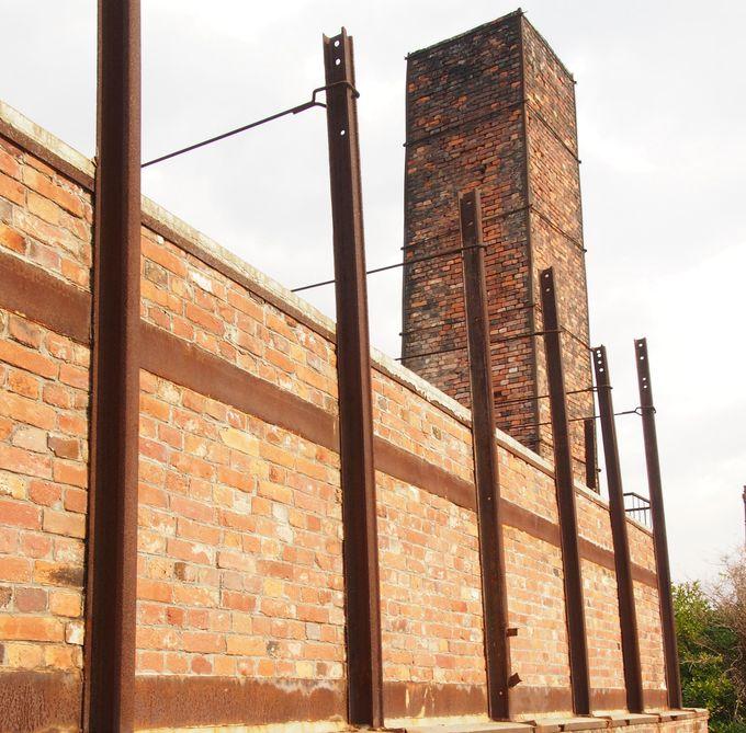 昔ながらの風景、レンガの煙突は常滑のシンボル!