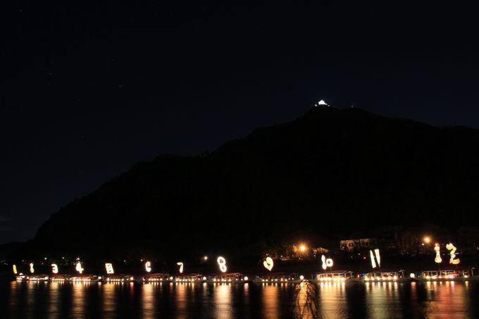 長良川に並び、こよみのよぶねのクライマックス