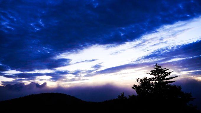 気象状況によって雲海も見れます
