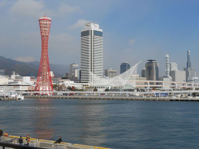 船長さんの修了証をいただいてにっこり。ポートタワーや神戸の港の美しさにもうっとり。