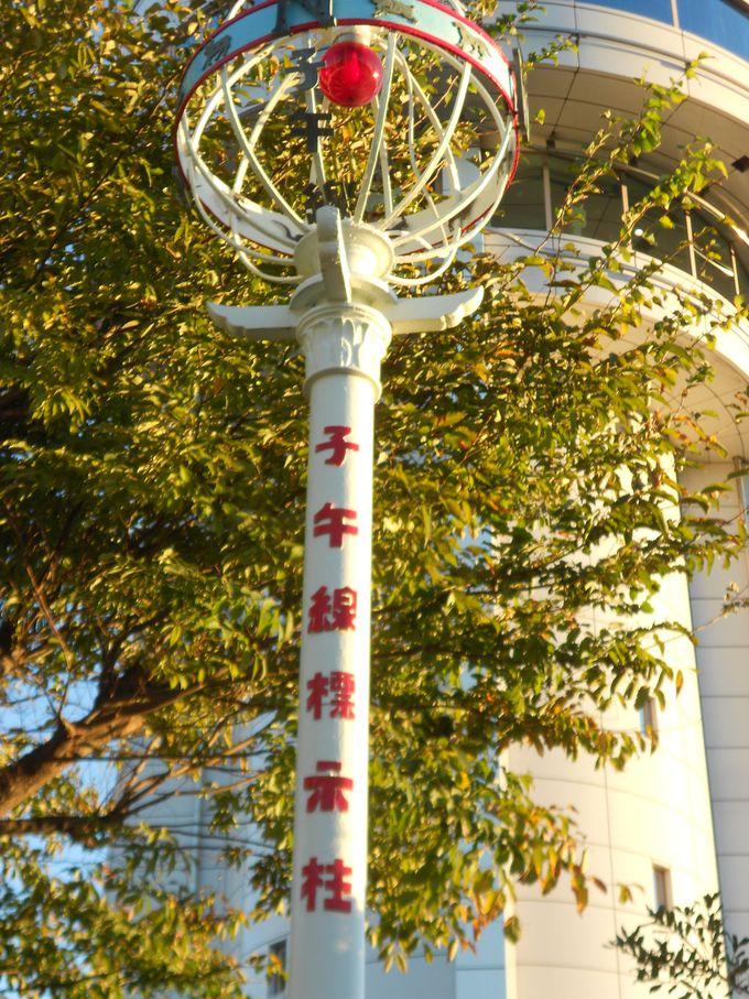 東経135度子午線、日本標準時で有名な明石。