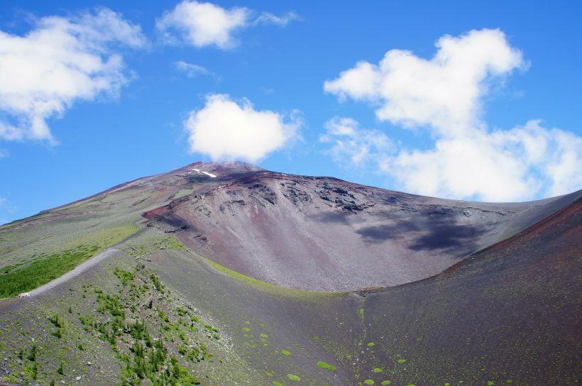 富士山から富士山を見るお勧めスポット2:宝永第二火口縁
