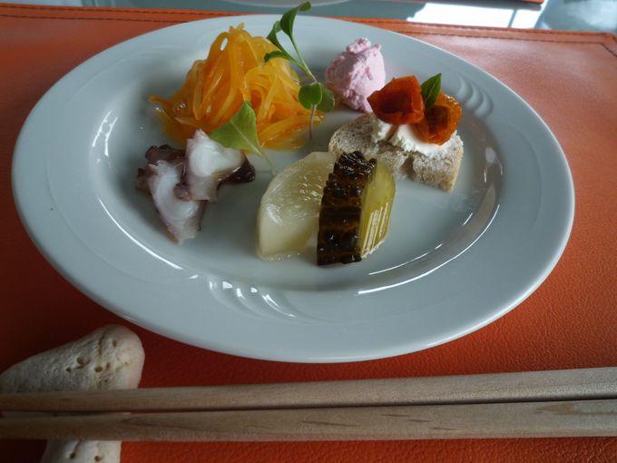 癒しポイント3:自家栽培野菜を使った沖縄イタリアン!