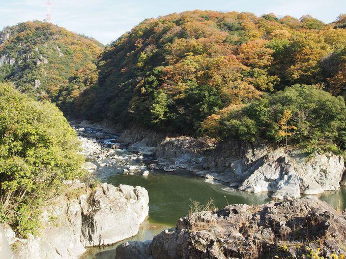 早速見どころ登場!武庫川渓谷の美しさ!