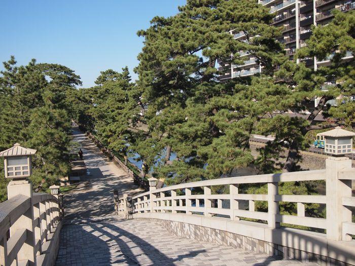 太鼓橋のような歩道橋