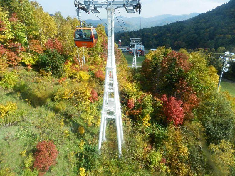 「札幌国際スキー場」で、秋の空中散策
