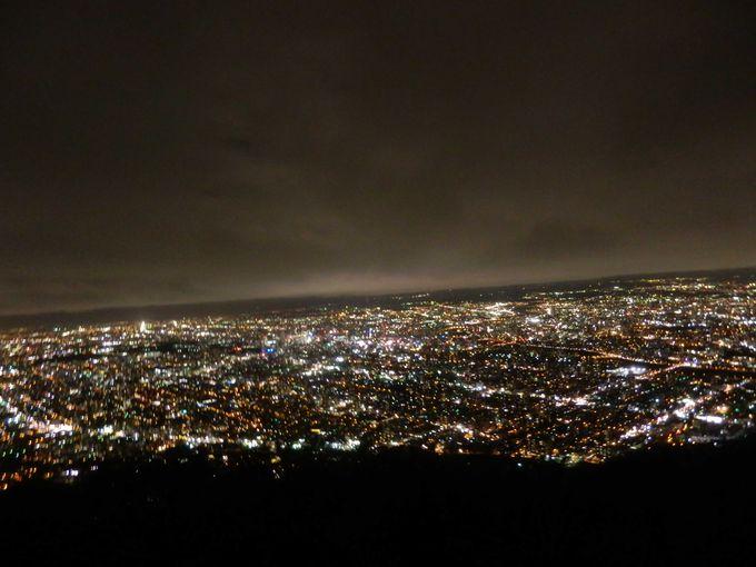 北海道三大夜景と言われる「藻岩山」からの夜景