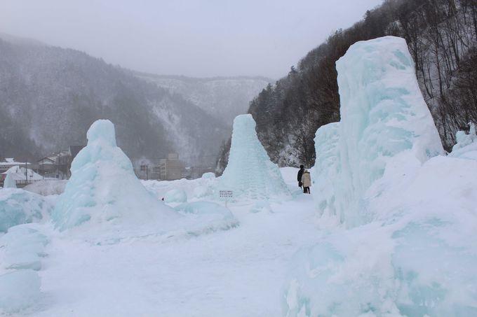 樹氷をテーマにした「氷のオブジェ」