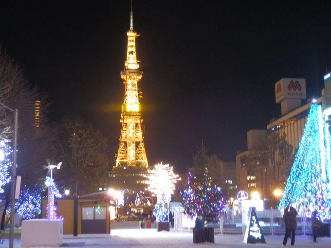 さっぽろホワイトイルミネーションの日、テレビ塔は暖かな色に!