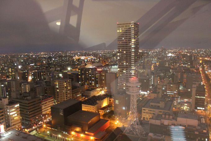 さっぽろの素敵な夜景が360度見渡せます♪