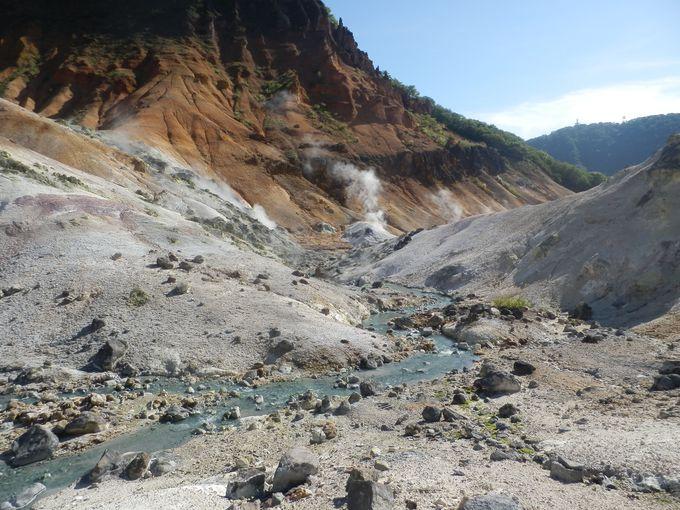 旅行者必見・北海道遺産「登別温泉地獄谷」
