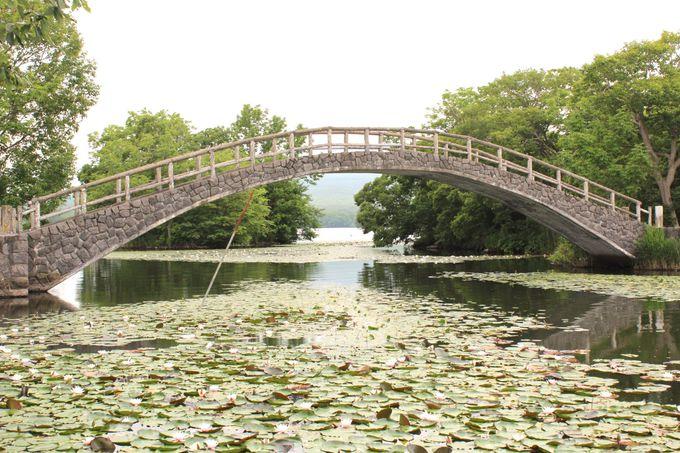 小島を渡る橋