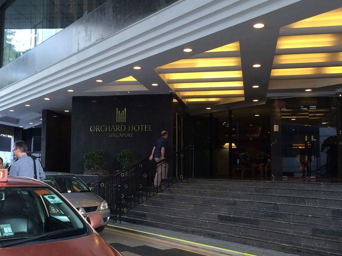 オーチャード・ロードに面しているホテルは家族づれにお勧め!