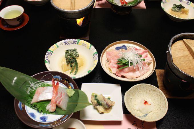 「村上館・湯伝」のこだわりの会席料理